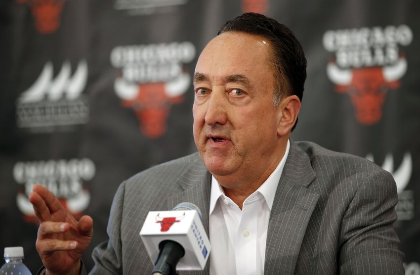 Jun 2, 2015; Chicago, IL, USA; Chicago Bulls General Manager Gar Forman speaks during a press conference at Advocate Center. Mandatory Credit: Kamil Krzaczynski-USA TODAY Sports